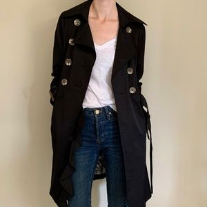 NWT Black Guess Trench Coat
